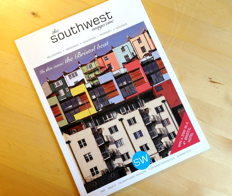 Cover design for The South West Magazine