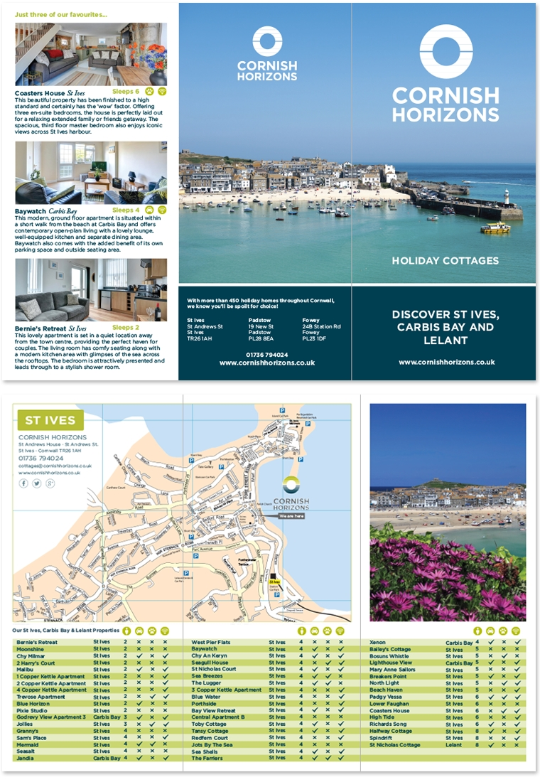 Leaflet design for Cornish Horizons
