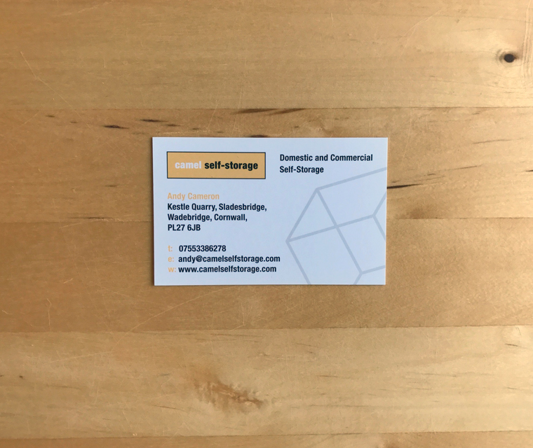 Camel Self Storage business card
