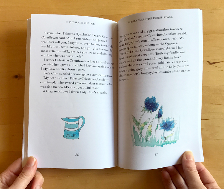 Double page spread of chapter book design