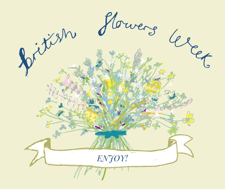 Pickle Design's illustration of British Flowers Week 2016