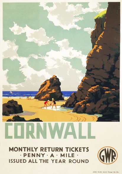 Cornwall Vintage travel poster