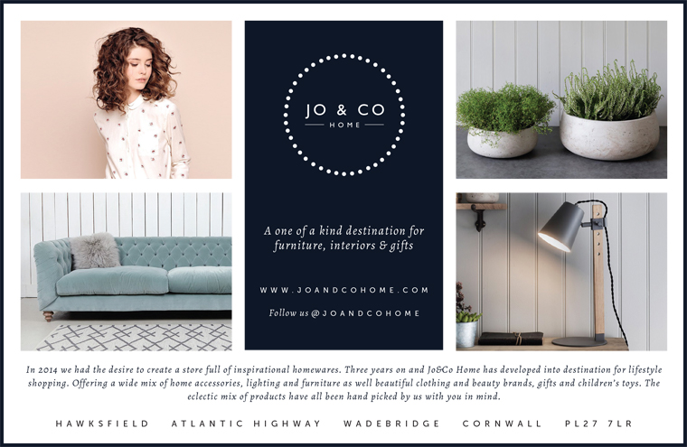 Jo and Co Home advert design