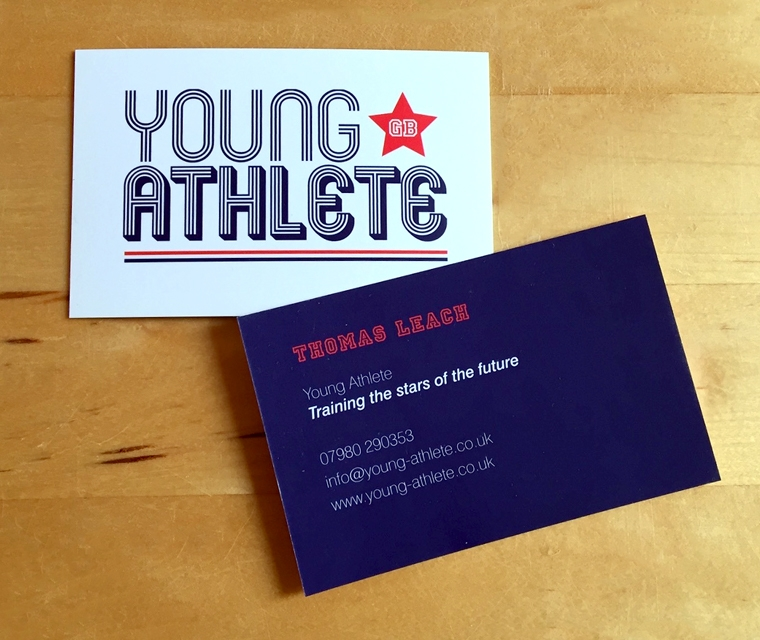 Young Athlete Business Card design
