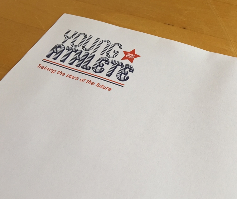 Young Athlete Letterhead Design
