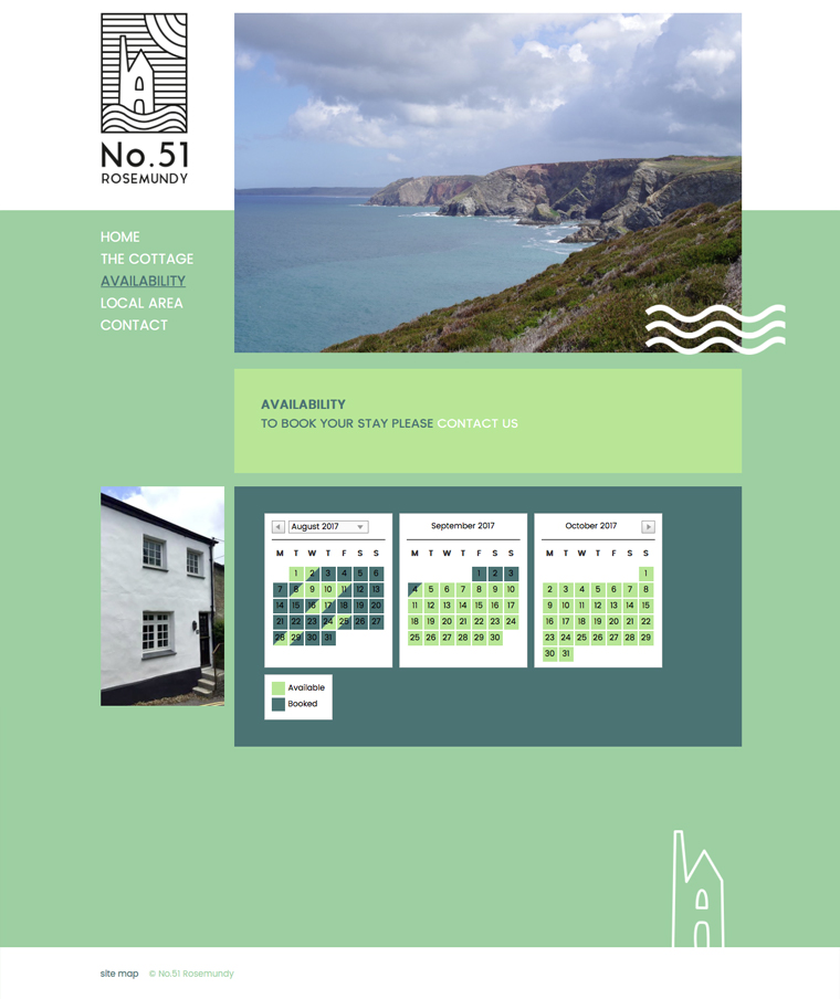 Availability checker for No.51 Rosemundy holiday cottage St Agnes