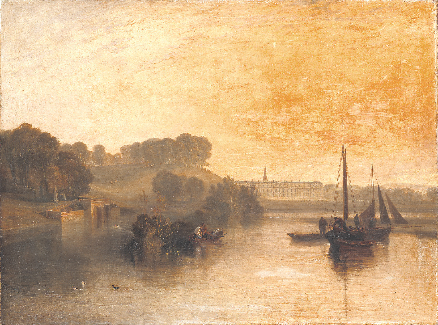 Petworth, Sussex, the Seat of the Earl of Egremont: Dewy Morning exhibited 1810