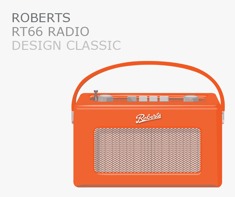 Pickle Design icon Roberts Radio RT66 Revival