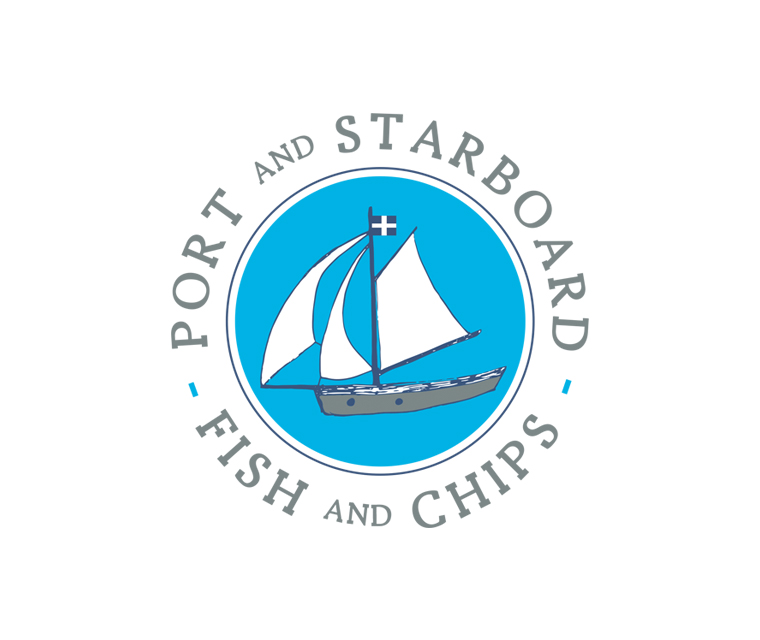 Port and Starboard fish and chips branding