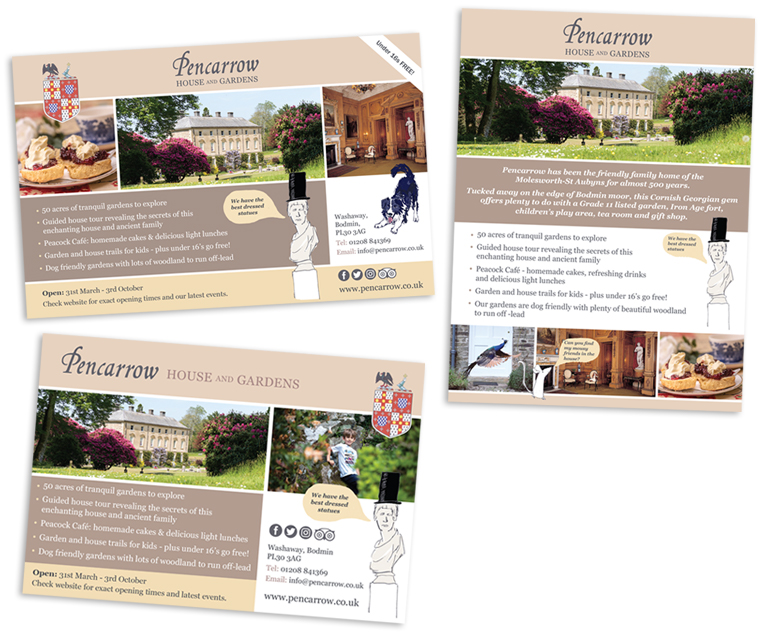 Advert design for Pencarrow House and Gardens