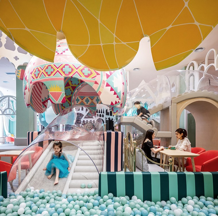 Bright and beautiful children restaurant in Shanghai China