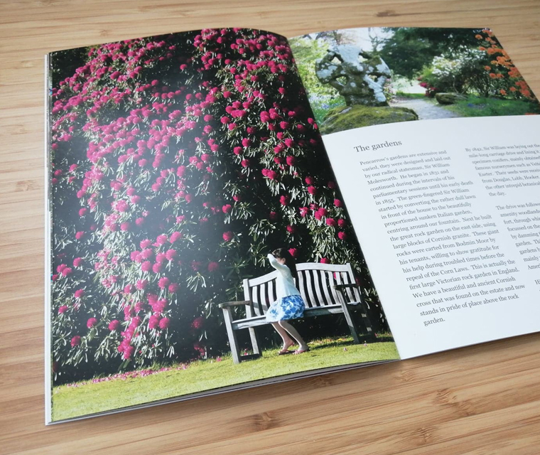 Historic House and Gardens in Cornwall guide book