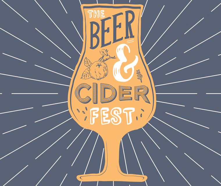 Illustrated Beer and Cider Festival Branding