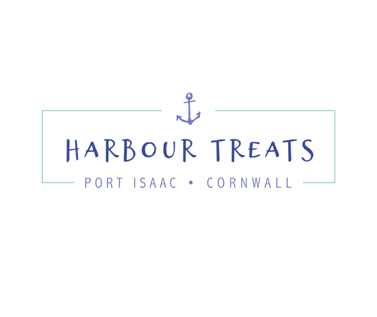 Logo design for Port Isaac based sweet shop Harbour Treats
