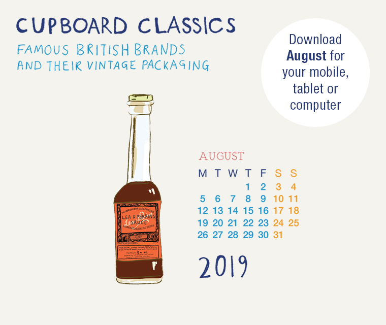 Download the free August illustration of Lea & Perrins Worcester Sauce from our vintage packaging calendar for your desktop, mobile or tablet