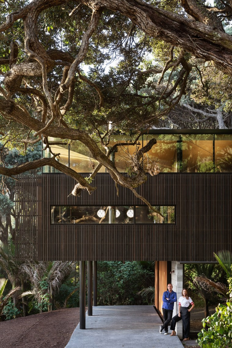 Massive architect designed house surrounded by trees