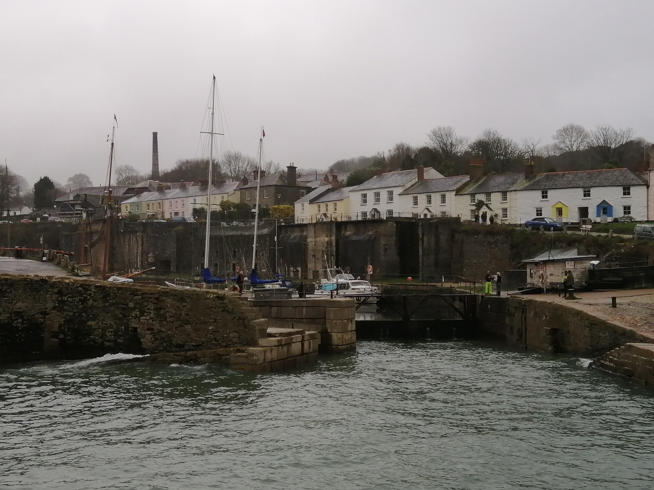 Harbour cottages at the historic port and film location of Charlestown
