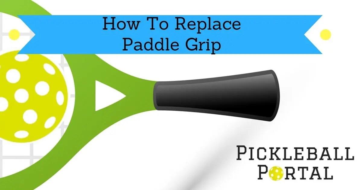 replace pickleball grip