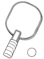 drawing of pickleball paddle