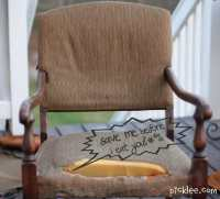The World's Ugliest Chair Gets a Makeover! {Before & After