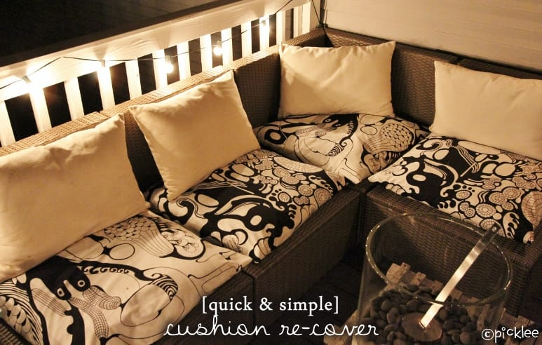 how to recover a sofa without sewing folding bed mattress replacement no sew cushion covers cover cushions ...