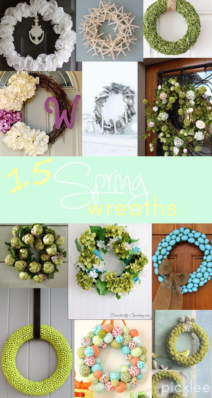 15 DIY Spring Wreaths inspiration  Picklee