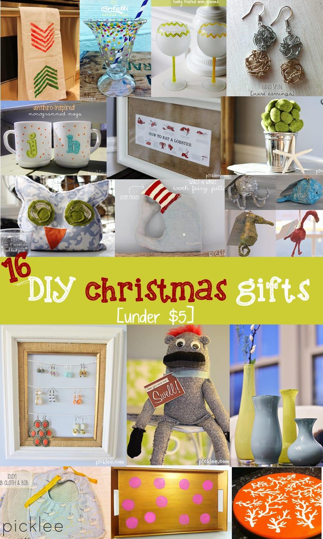 16 DIY Christmas Giftsunder 5 inspiration  Picklee