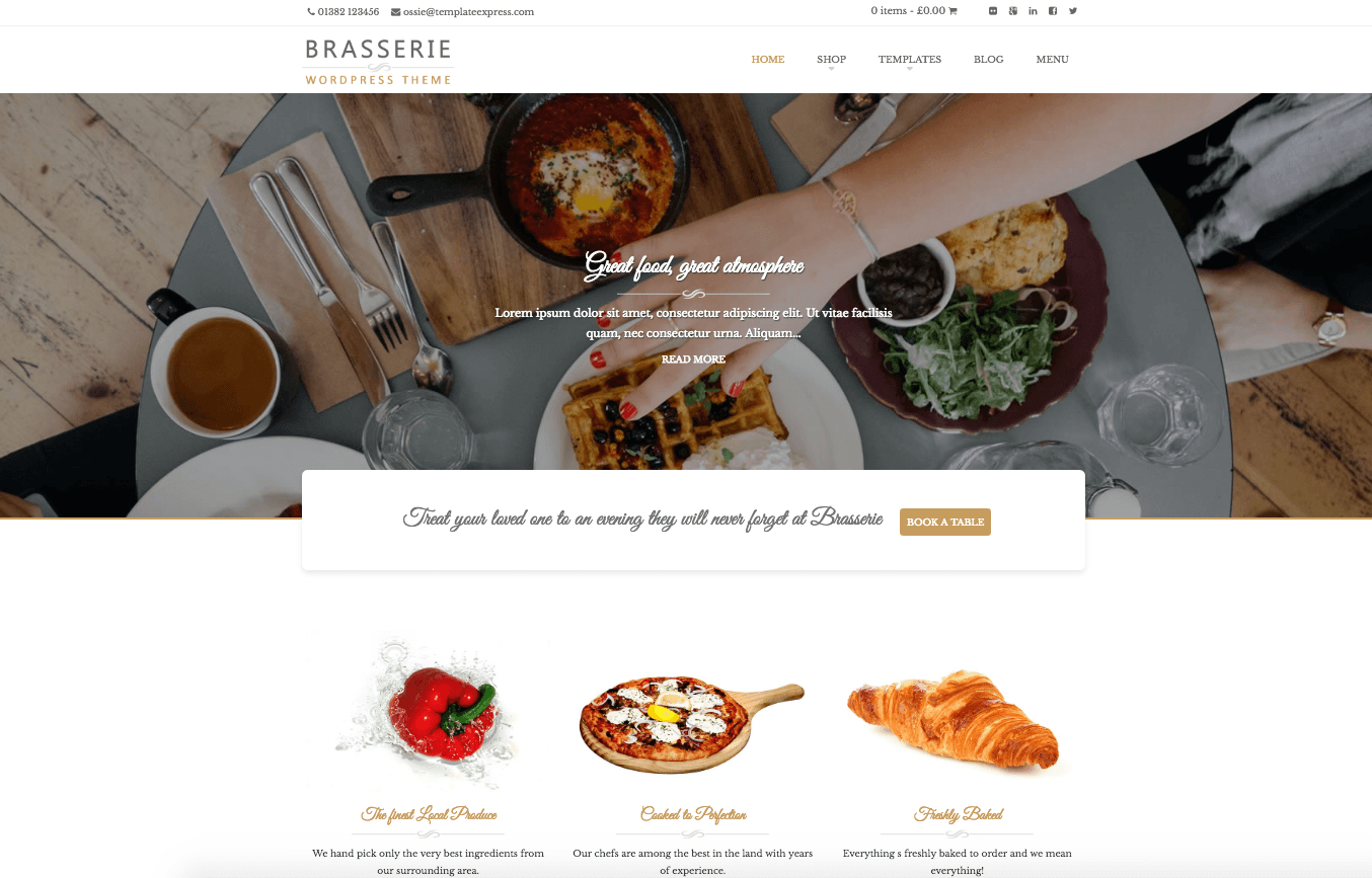 Wordpress Templates For Resturants And Food Businesses Pickle Jar