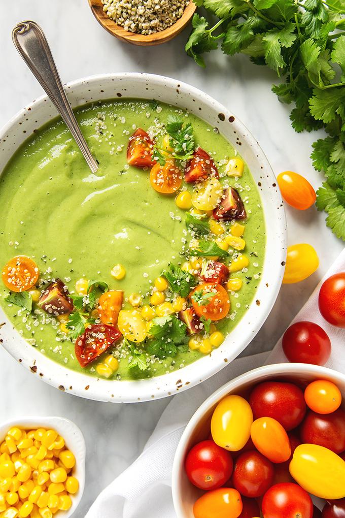 Vegan Cucumber Avocado Soup Recipe (Raw & Gluten-Free!)