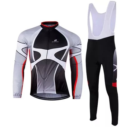 ZEROBIKE Outdoor Breathable Sports Long Sleeve Cycling Jersey for Men