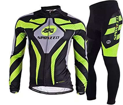 SponeedMen's Cycling Jersey Full Sleeve Riding Wear Long Sleeve T-Shirts Pants