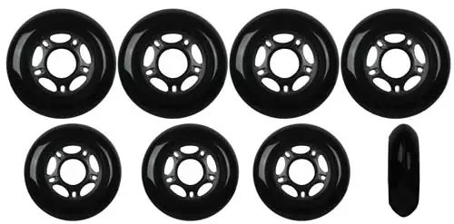 Players-Choice-Inline-Skate-Wheels-HILO-SET-72mm-76mm-80mm-82A-Black-Outdoor-Hockey-Rollerblade