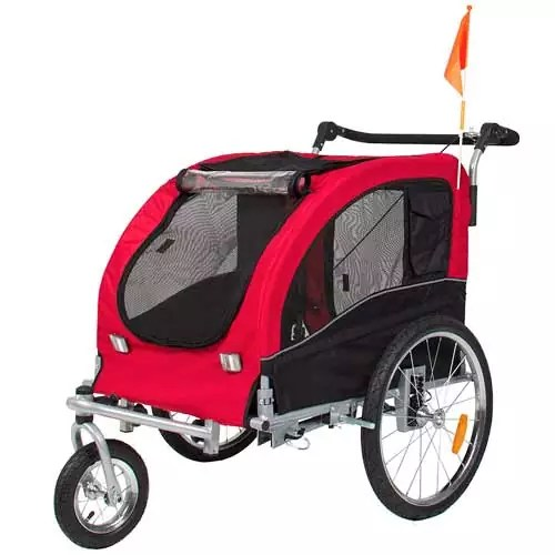 Best Choice Products 2-in-1 Pet Trailer and Stroller