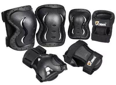 JBM 3-Pack (Knee and Elbow Pads with Wrist Guards)