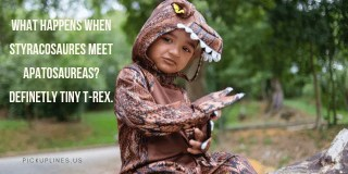 t rex pick up lines