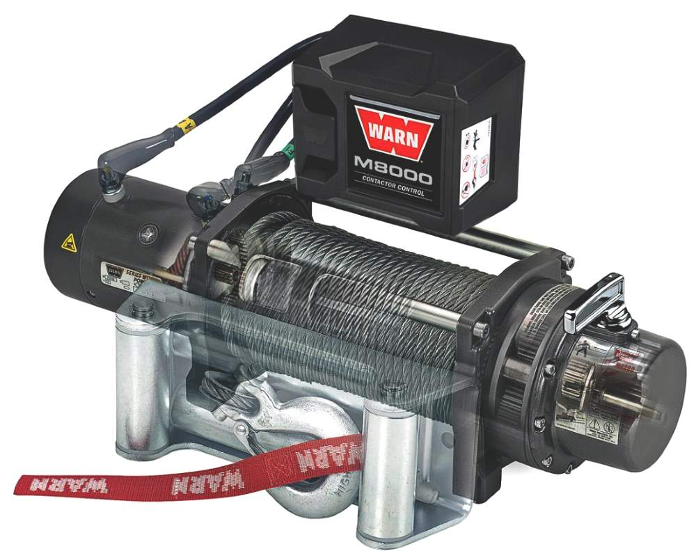 hight resolution of warn m8000 winch side view