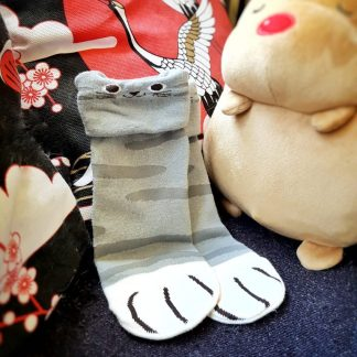Cute Japanese Neko Animal Cat Paw Ankle Socks Kawaii Cosplay - Stripes