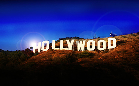 Hollywood greenscreen sign