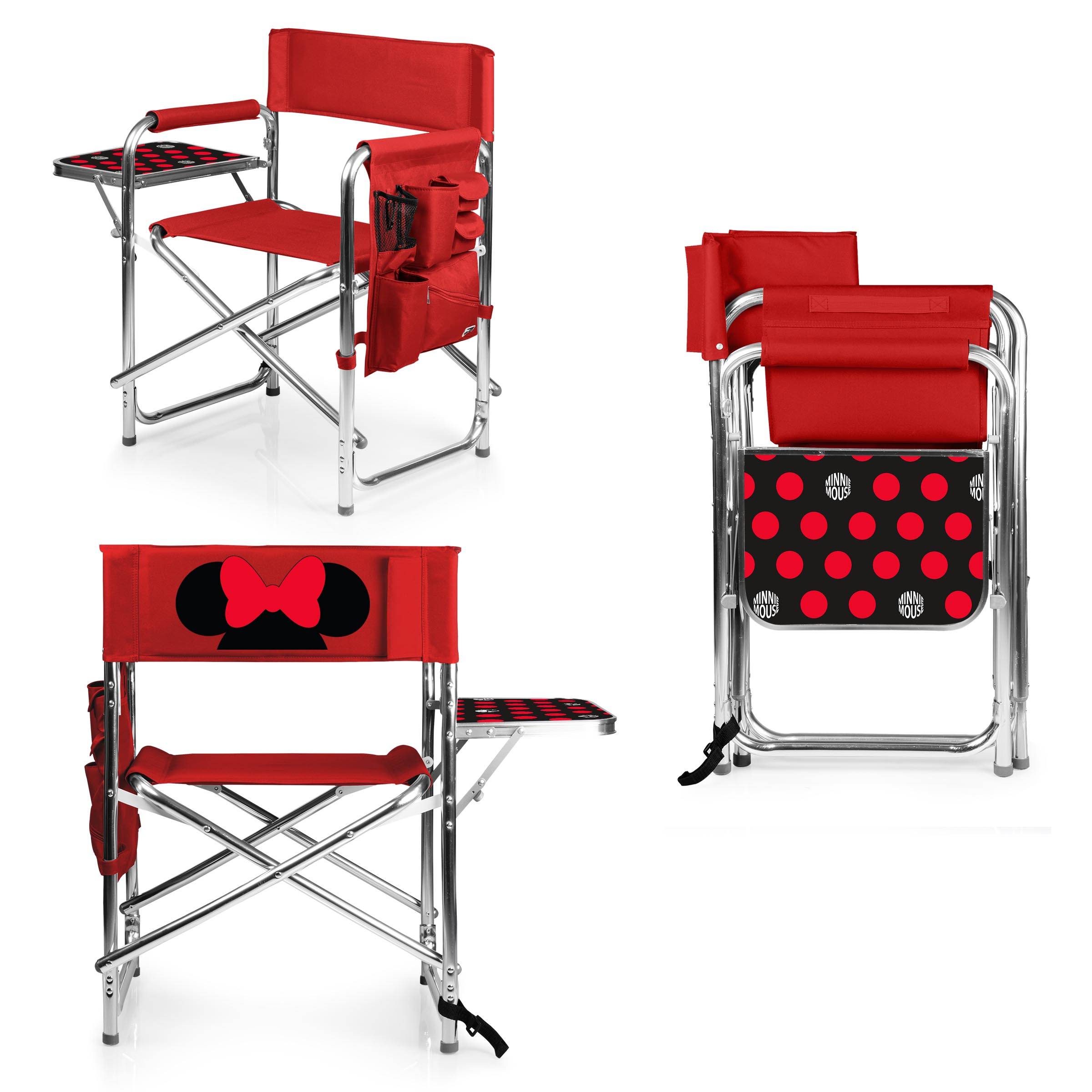 minnie mouse folding chair farmhouse christmas covers sports by picnic time red