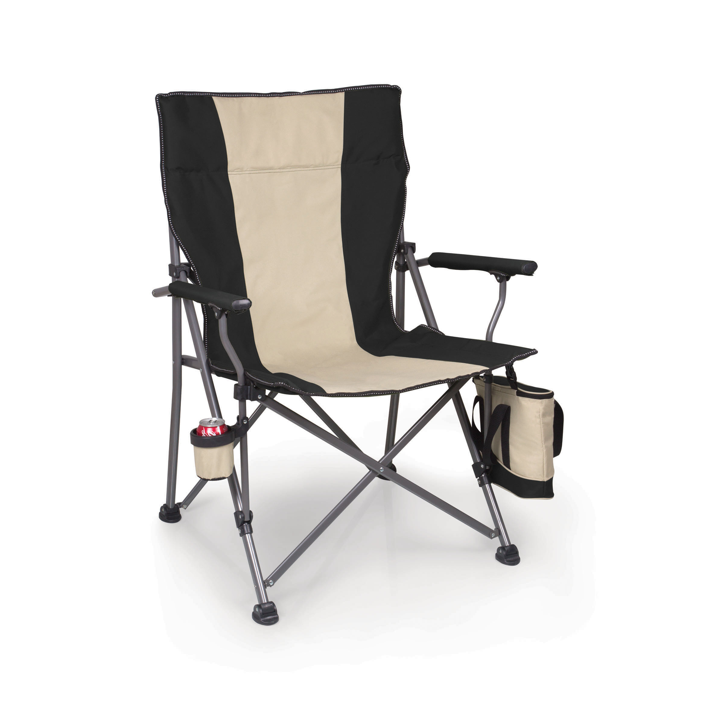 big folding chairs grey crushed velvet bedroom chair bear camp black picnic time family of brands