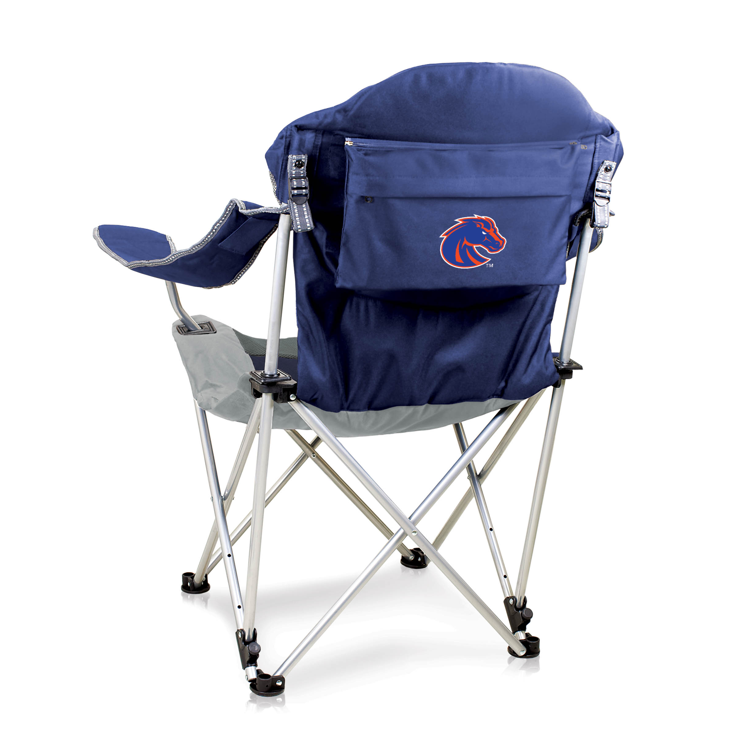 Reclining Camp Chair Navy Boise State University