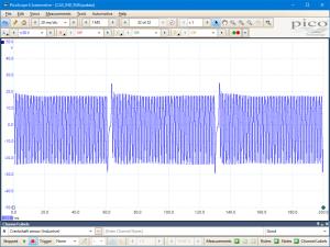 Crankshaft position sensor (inductive)  running