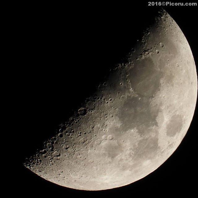 月面Xの撮影をしてきました。晴れて良かったけど寒かったな〜