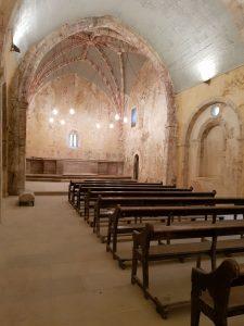 Interior Iglesia Santa Eulalia de Abamia