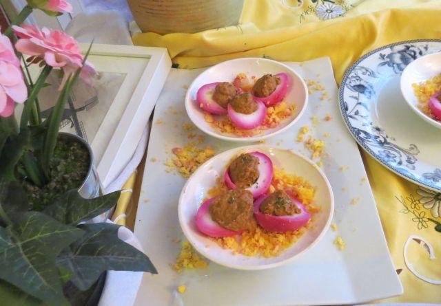 huevos rellenos con paté