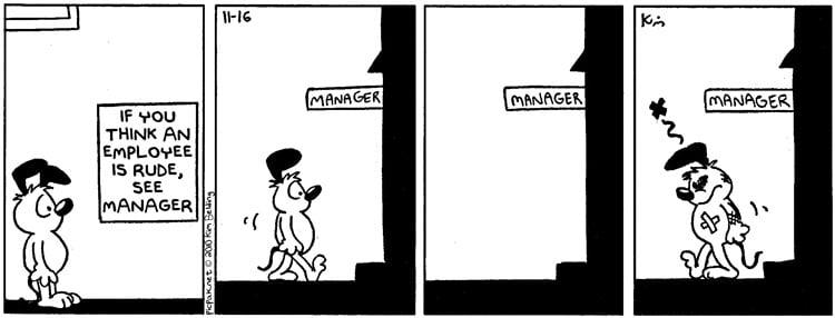 Rude Employee