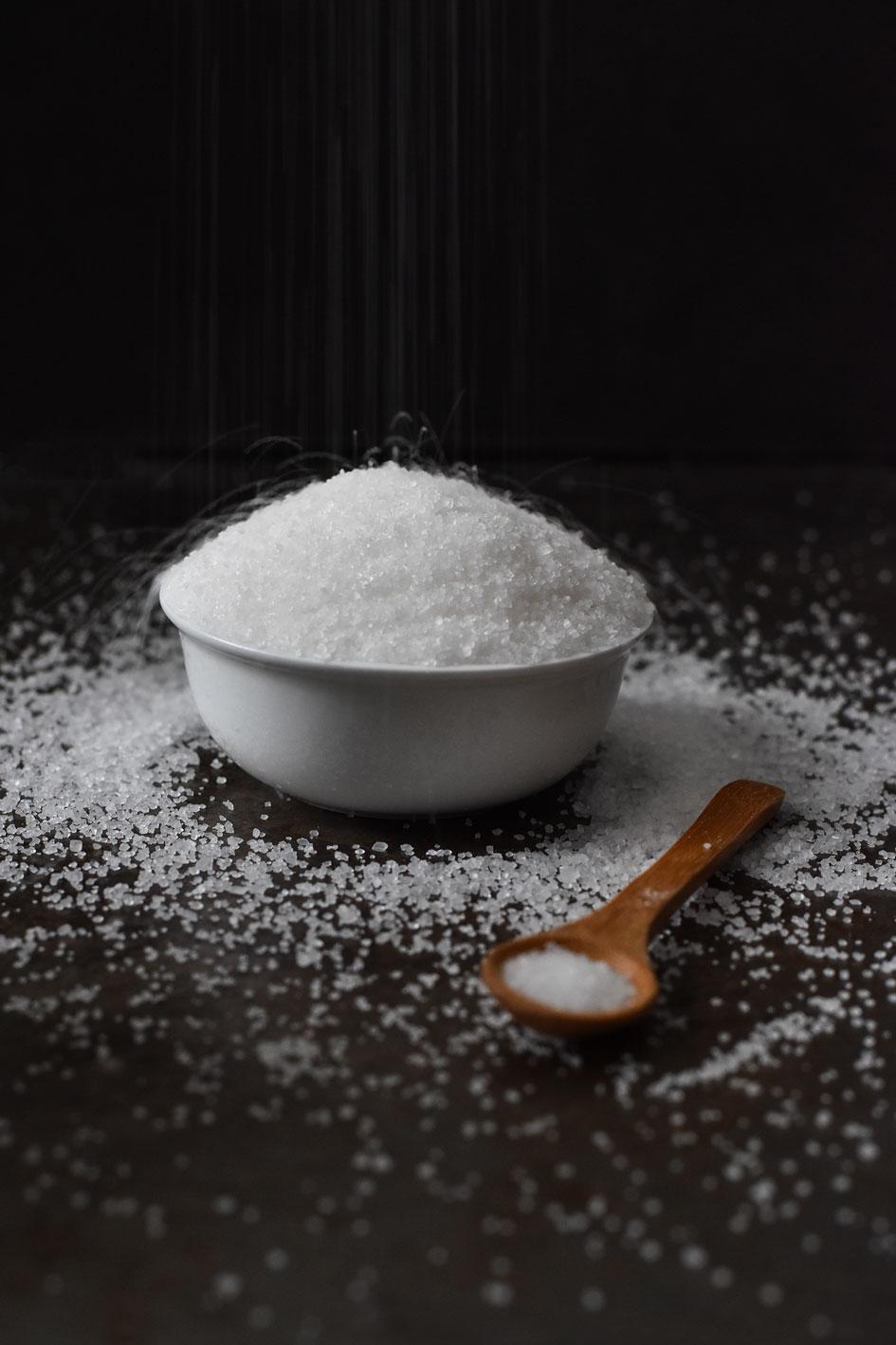 Stevia kristalkorrel is ideaal om te gebruiken in gebak.