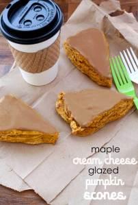 cream cheese glazed pumpkin scones