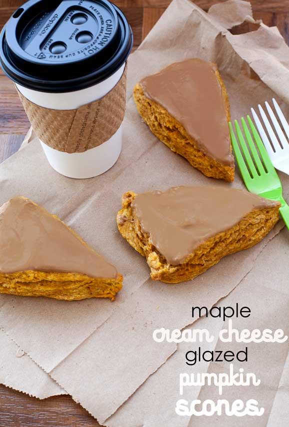 pumpkin-scones-with-cream-cheese-glaze