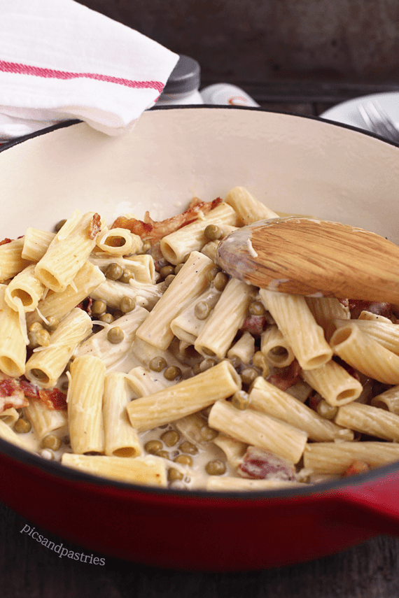 one skillet alfredo with bacon